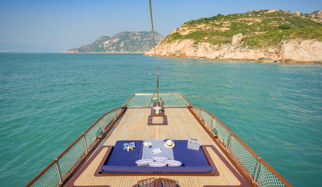 Yacht Upper Deck Back